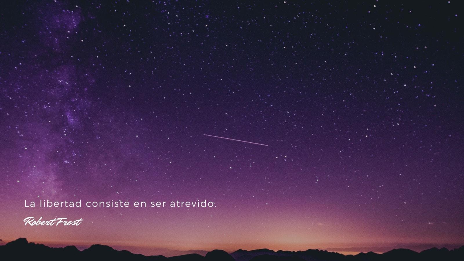 Morado Cielo Aire Libre Naturaleza Foto Inspiración Frase Fondo de Pantalla