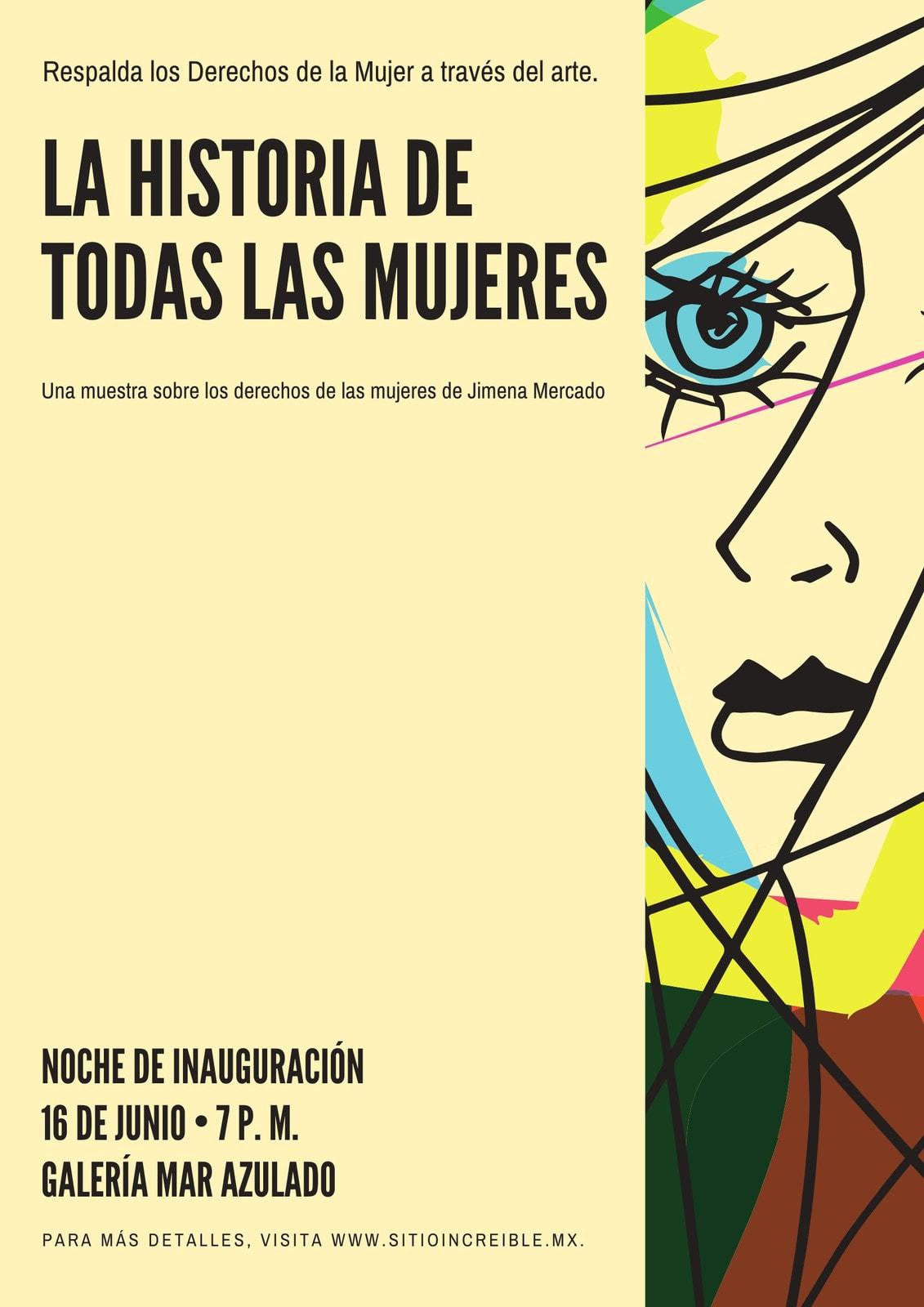 Crema abstracto derechos de las mujeres póster