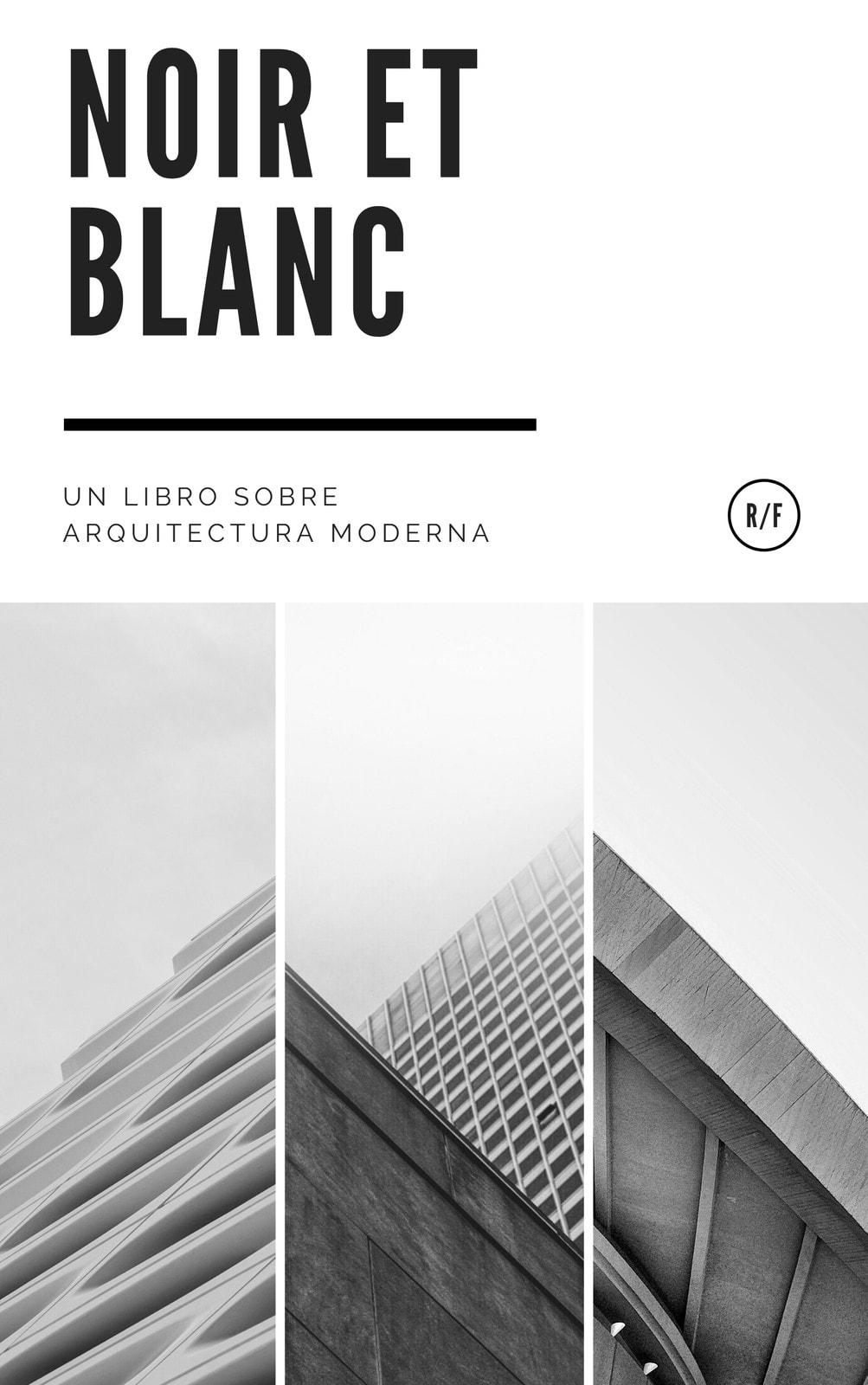 Blanco y Negro Moderno Collage Arquitectura Libro Portada