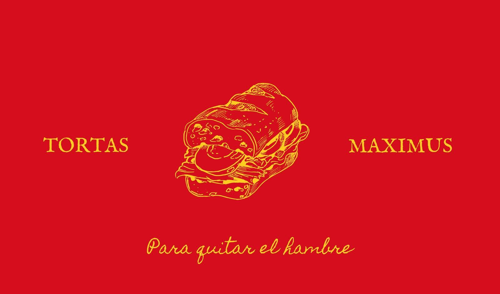 Tortas Maximus tradicional vintage con ilustración de torta con fondo rojo Tarjeta de presentación