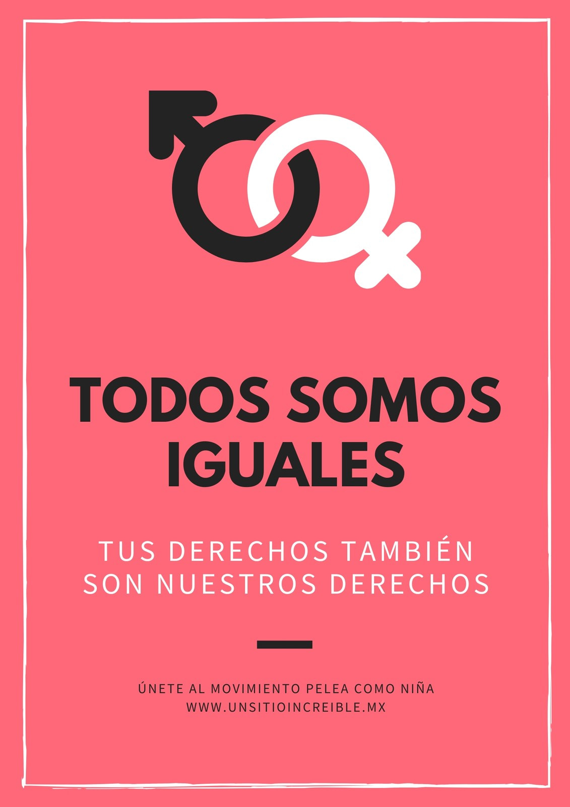 Rosa Salmón Íconos de Géneros Igualdad de Género Póster