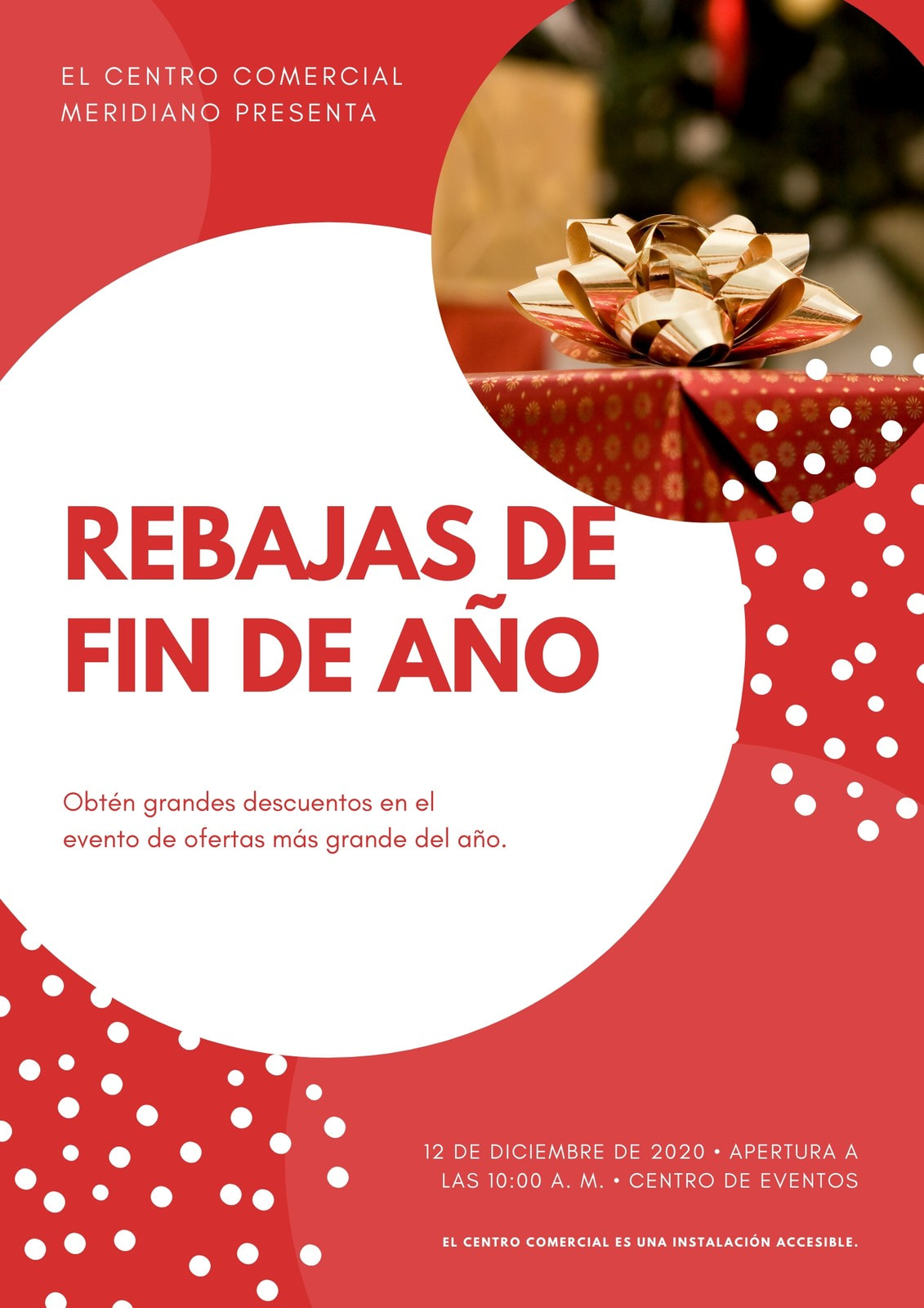 Rojo Foto Fiestas Comercio Póster