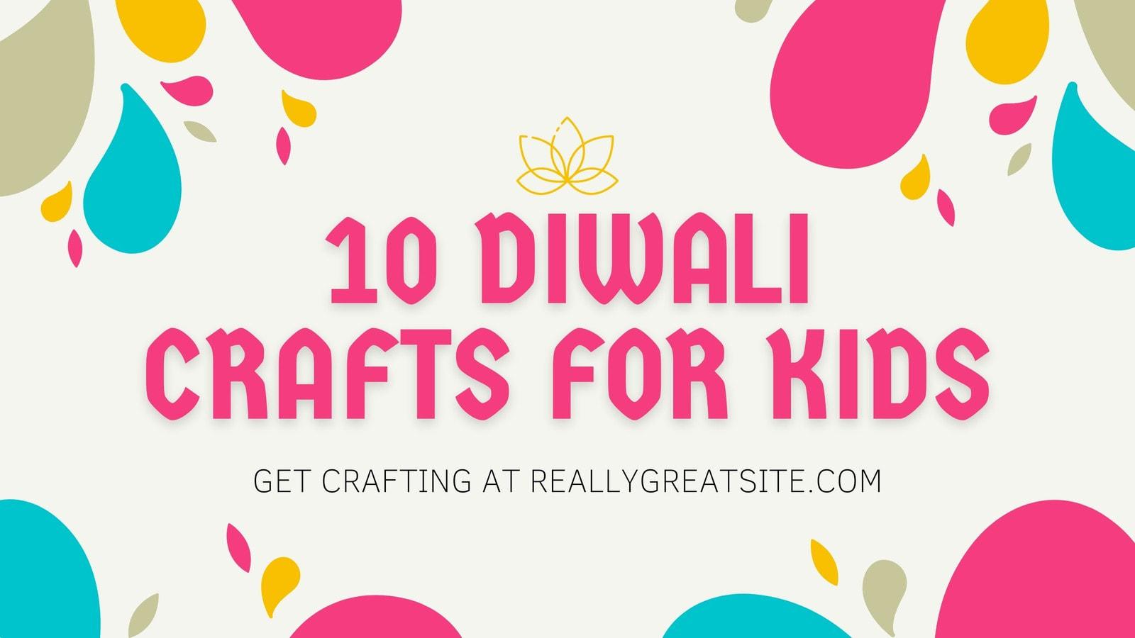 Pink, Gold, and Teal Illustrated Diwali Blog Banner