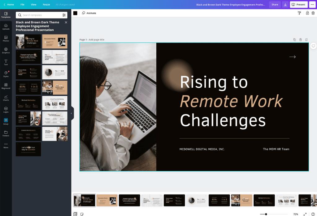 Free Presentation Slides & Maker Canva