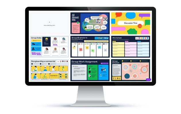 Group work templates on desktop