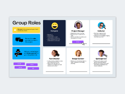 Group roles template