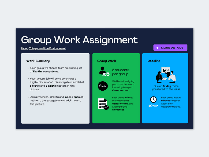 Group work assignment template