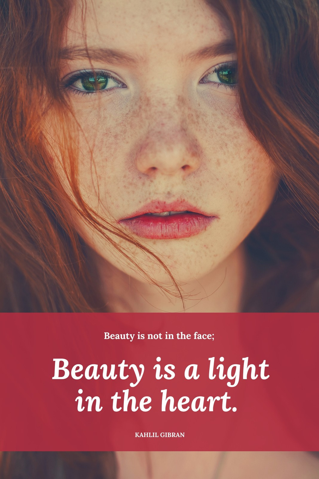 White Red Beauty Quotes Pinterest Graphic