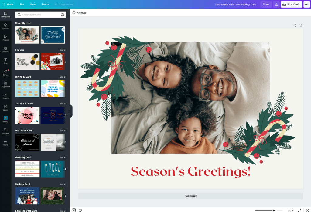 How to make a Christmas card - Canva