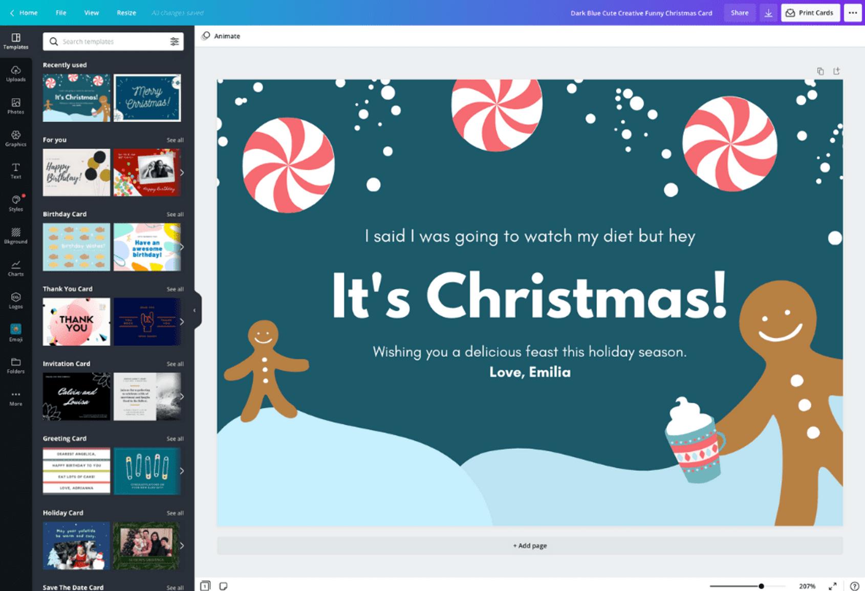 Free Online Greeting Card Maker Create Custom Designs Online Canva