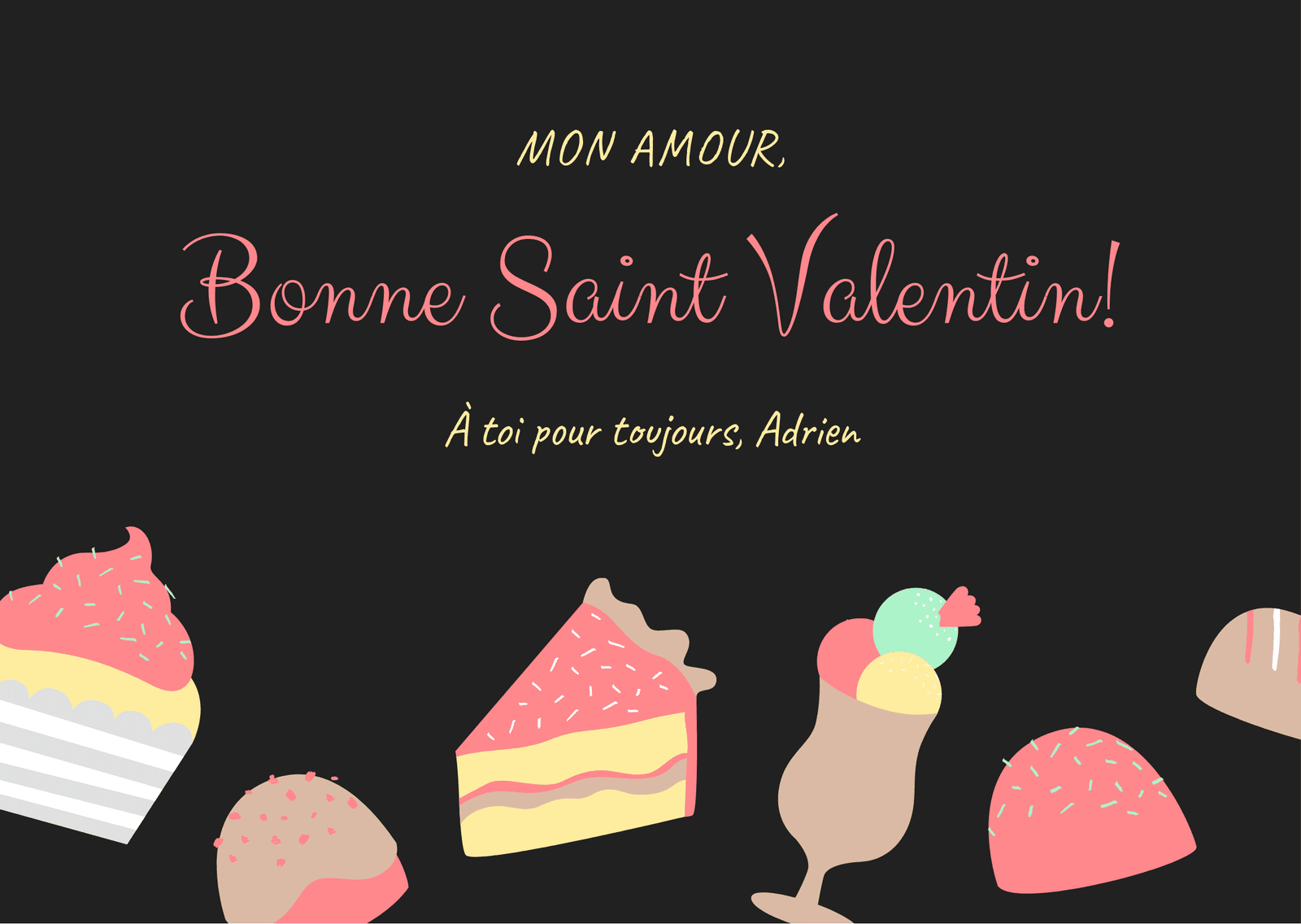 Charbon Saint-Valentin Carte
