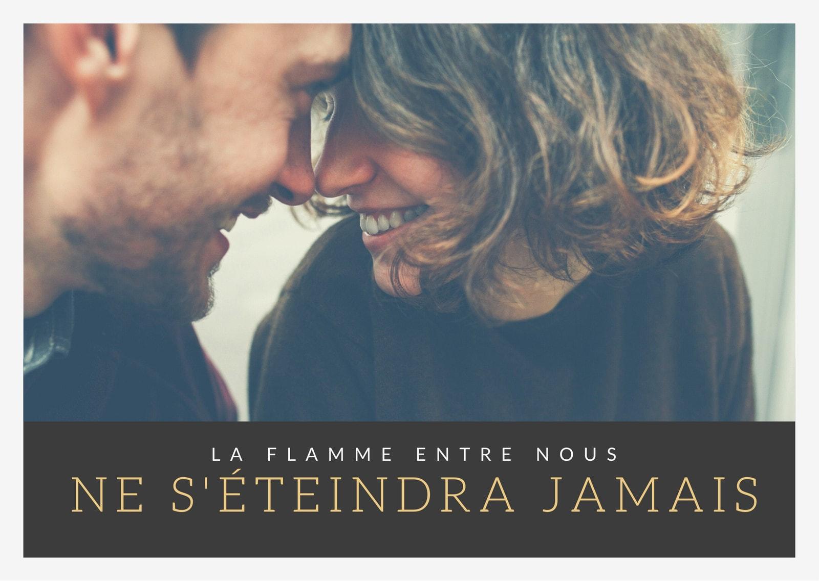 Romantique Couple Photo Carte