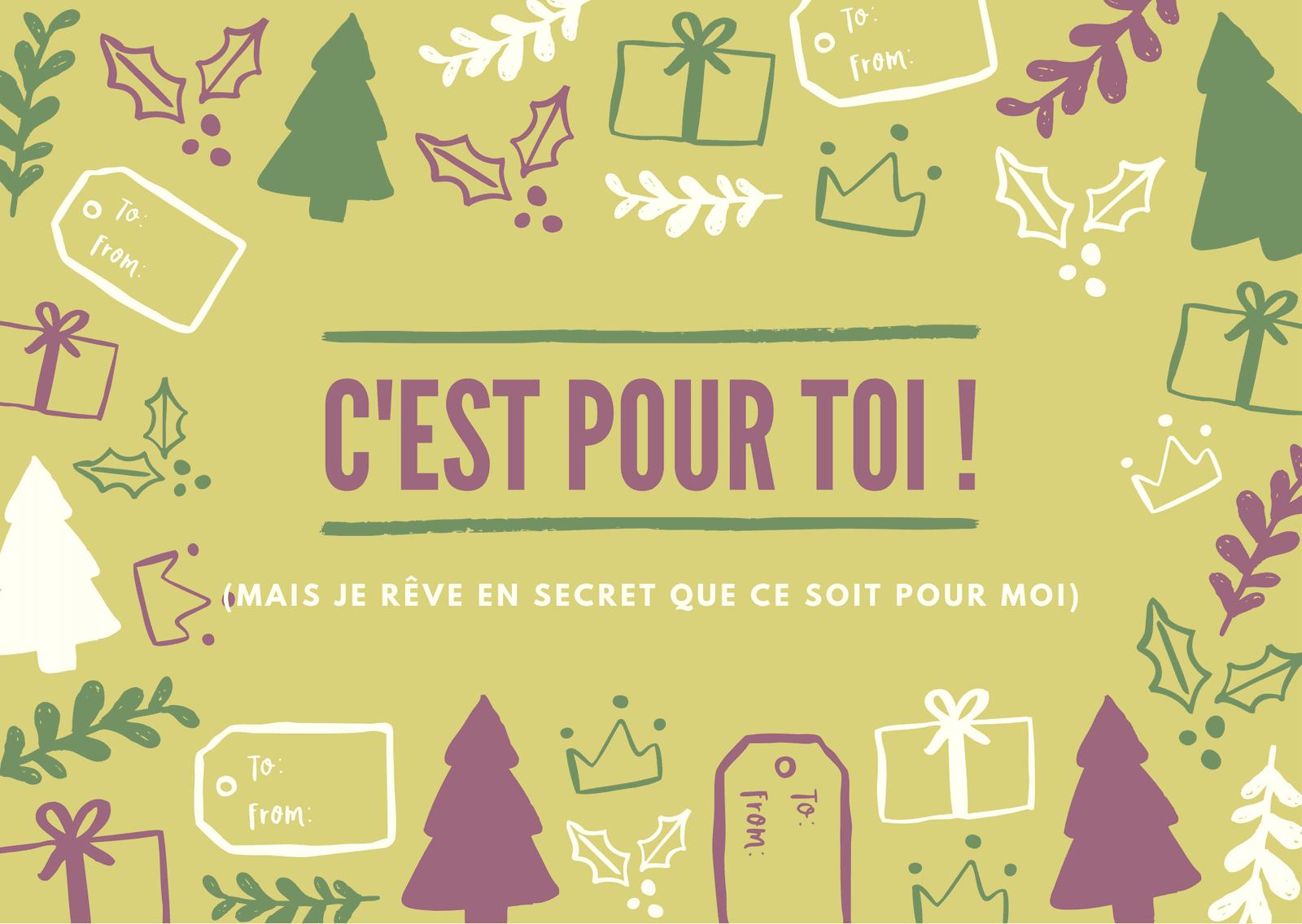 Noël Icône Rigolo Carte