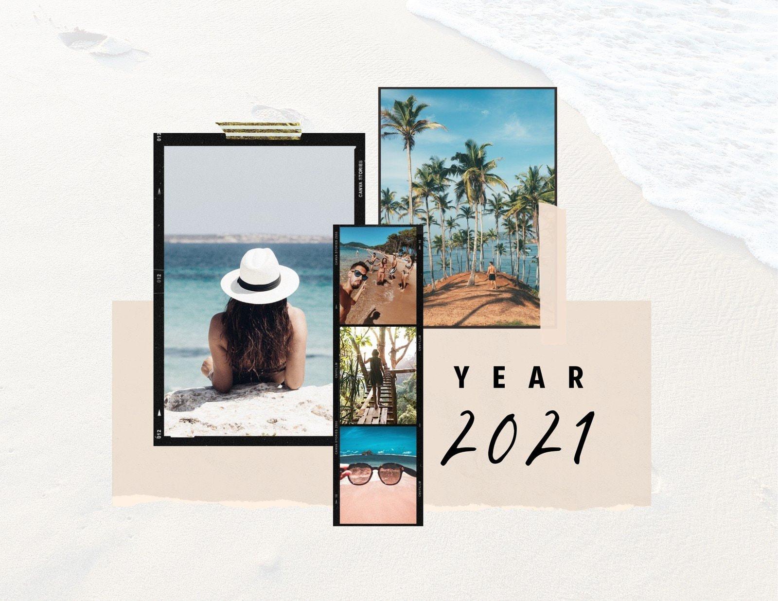 Colorful Film Scrapbook Travel Wall Calendar