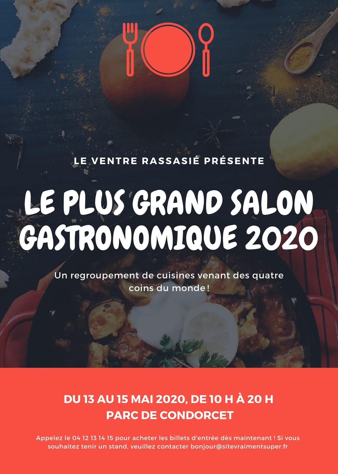 Rouge gastronomique salon flyer