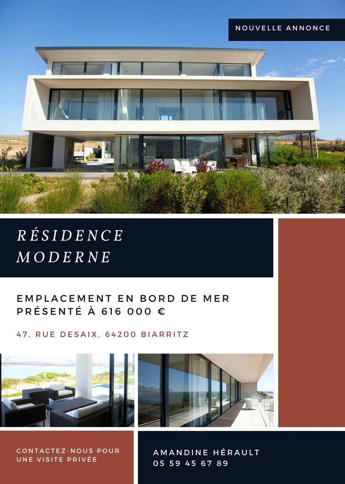 Résidence Contemporaine Agence Immobilière Flyer