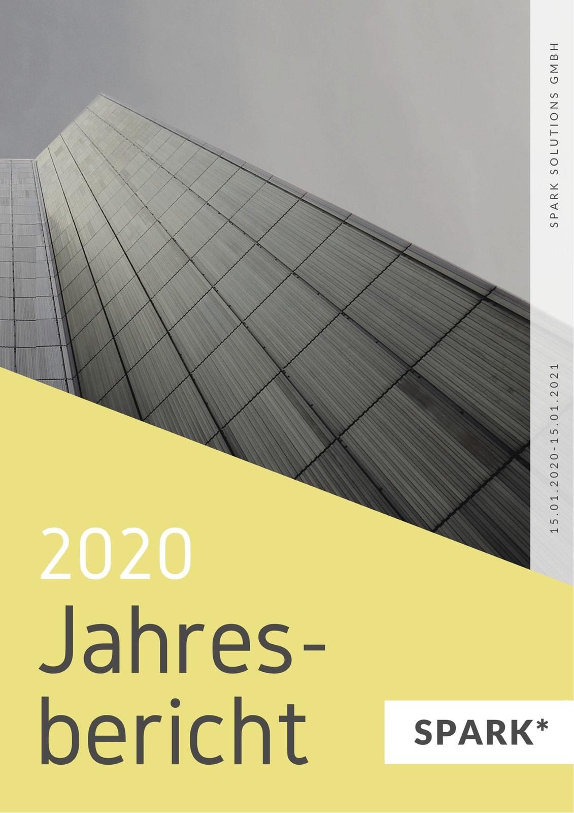 Gelb Grau Unternehmen Allgemein Jahresbericht
