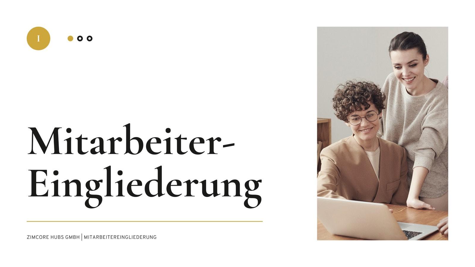 Weiß Schwarz und Beige Minimalistisch Elegant Neueinstellung Ressourcen Unternehmen Präsentation