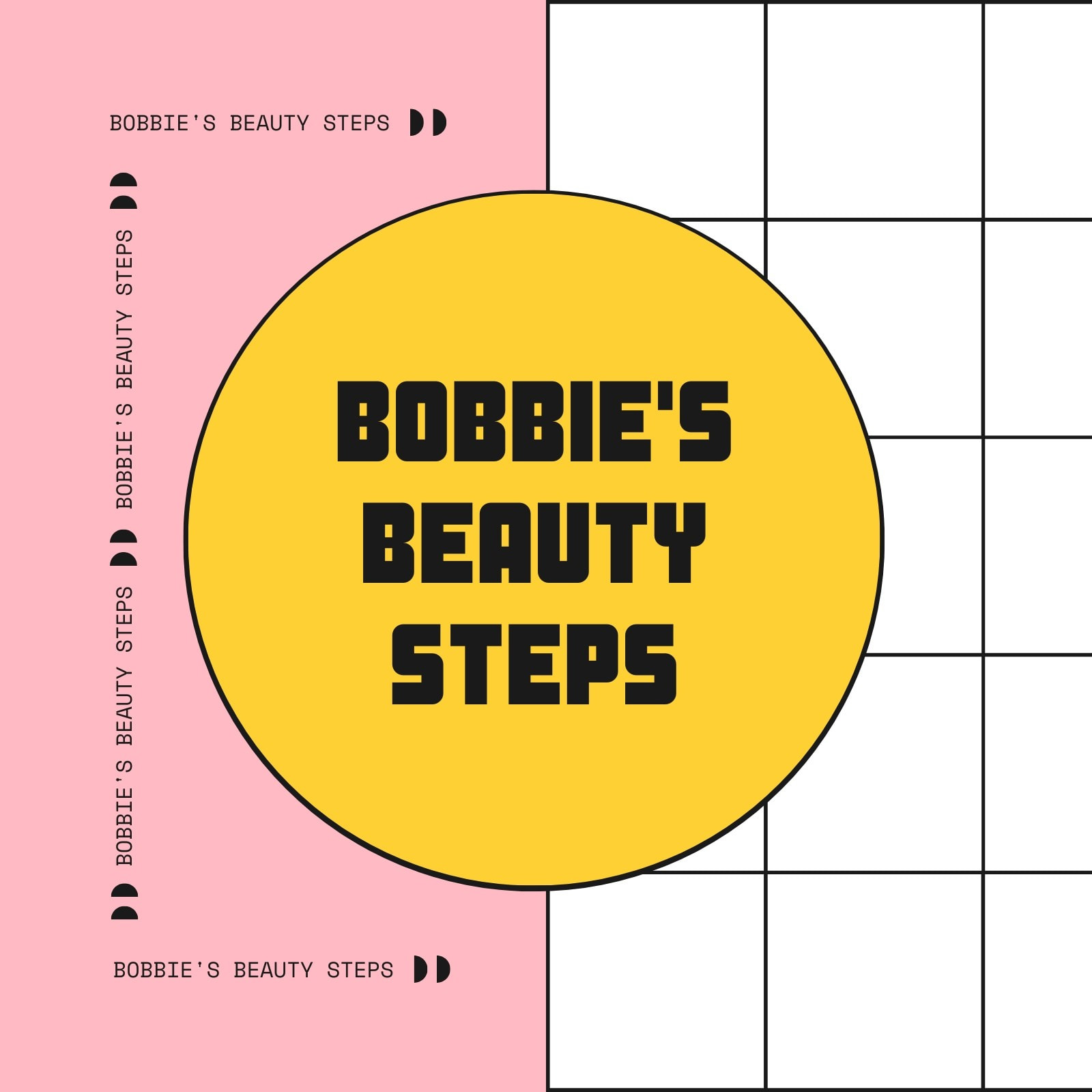 Pink, White and Yellow Nostalgia Beauty Collection YouTube Icon