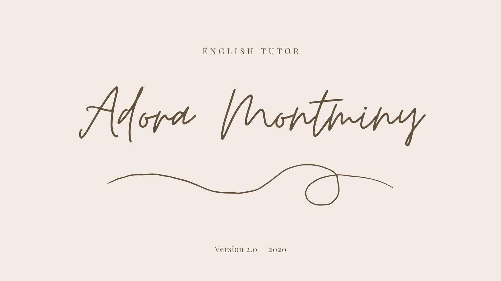 Cream Handwritten English Tutor Marketing Presentation