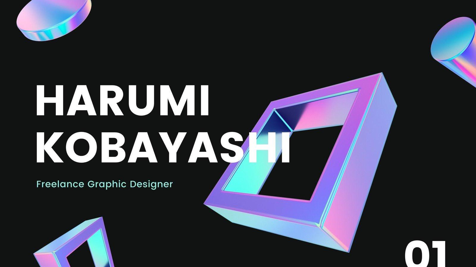 Black and Purple Geometric Designer Services Marketing Presentation