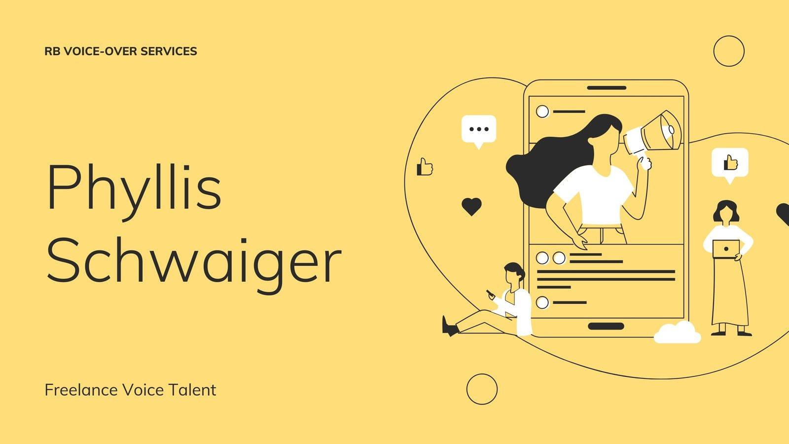 Yellow and Purple Illustrated Voice Talent Minimalist Marketing Presentation
