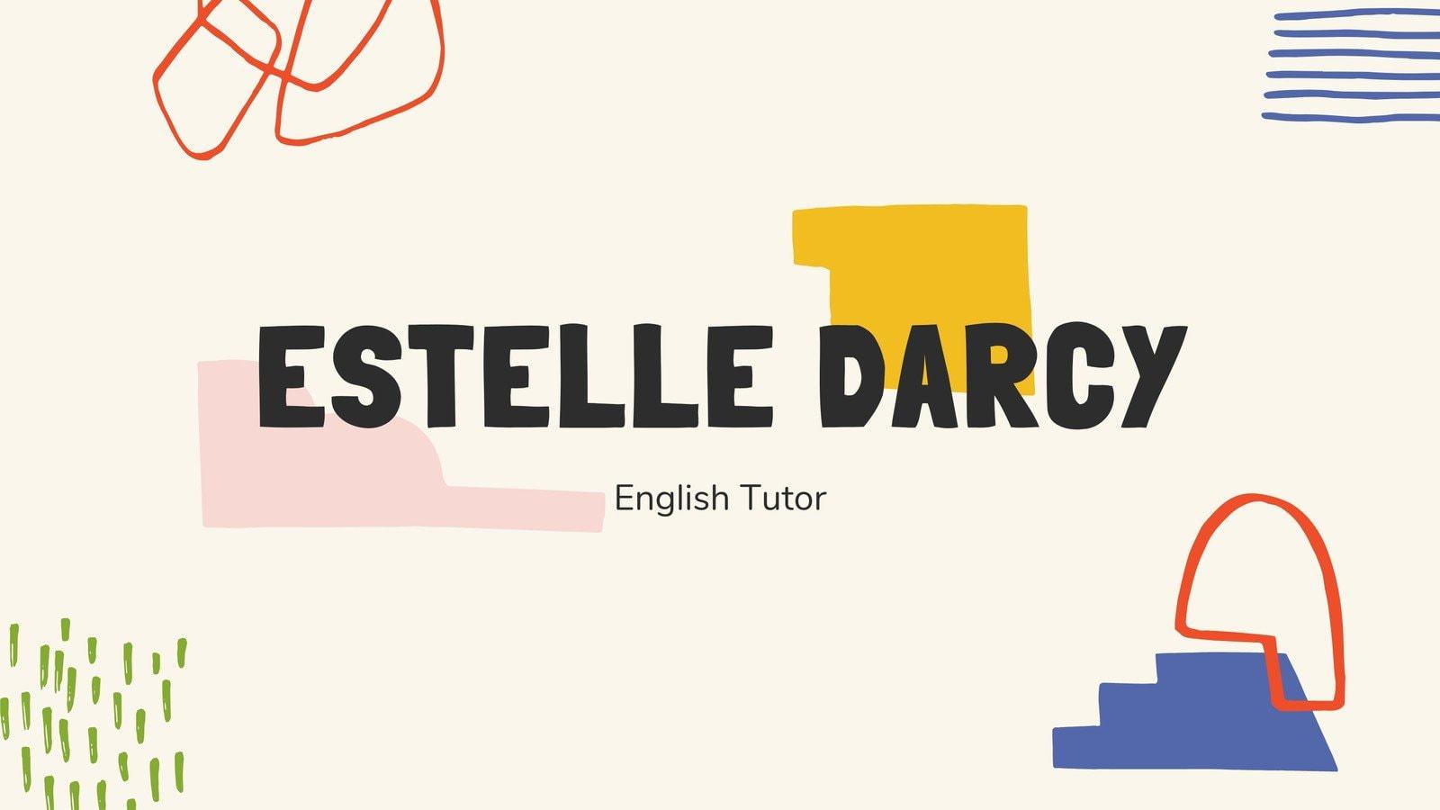 Colorful Hand-Drawn English Tutor Marketing Presentation