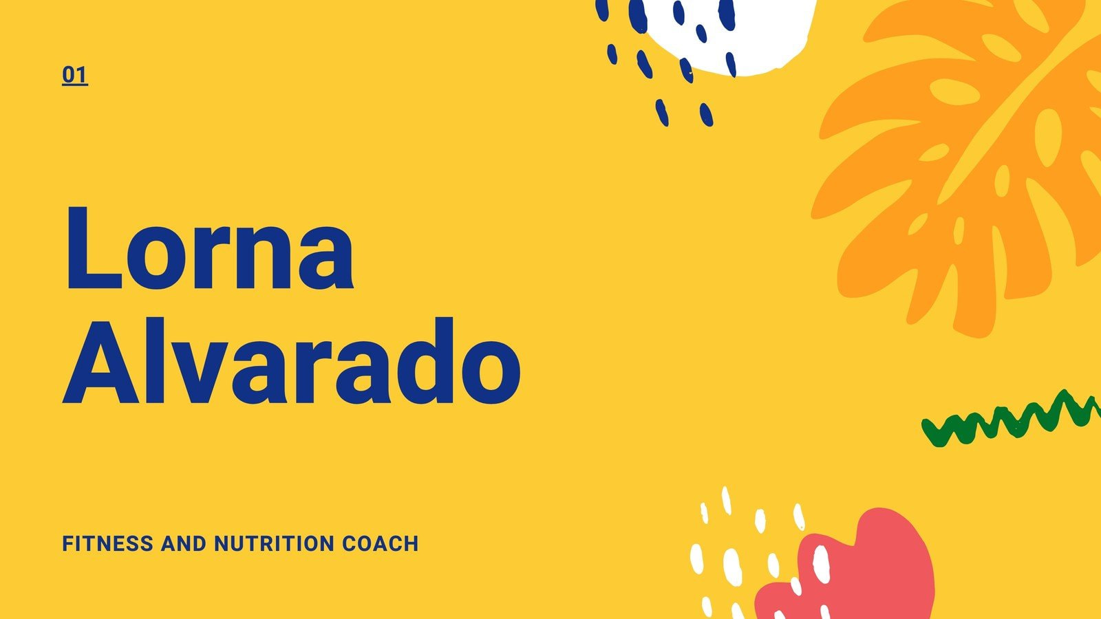 Yellow Fun and Playful Organic Nutrition Coach Marketing Presentation