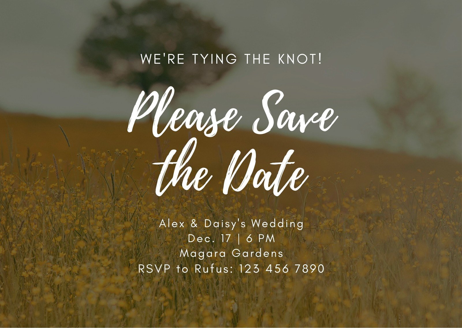 Country Wedding Save the Date Card