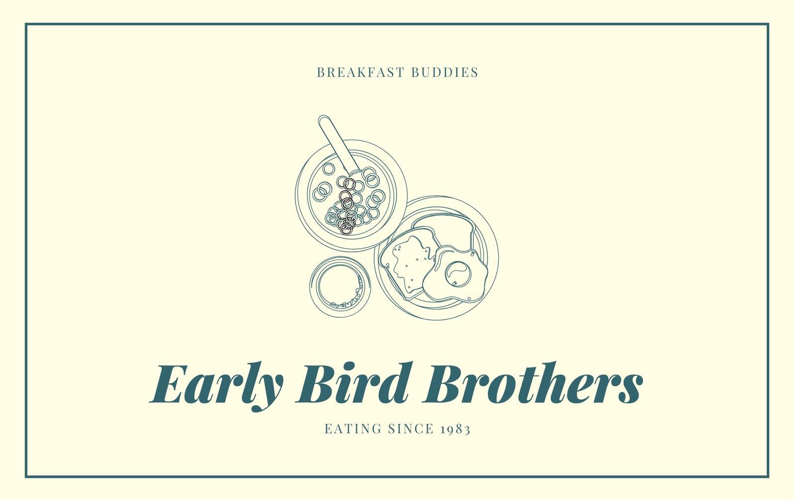 Yellow Green Breakfast Membership ID Card