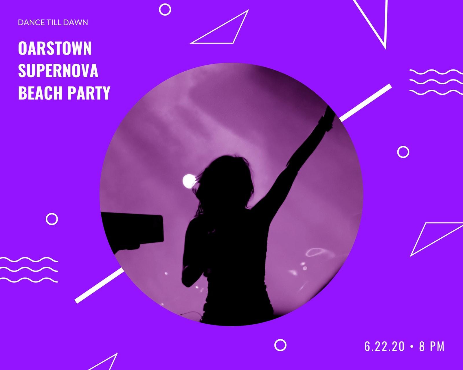 Purple Dance Festival Photo Collage