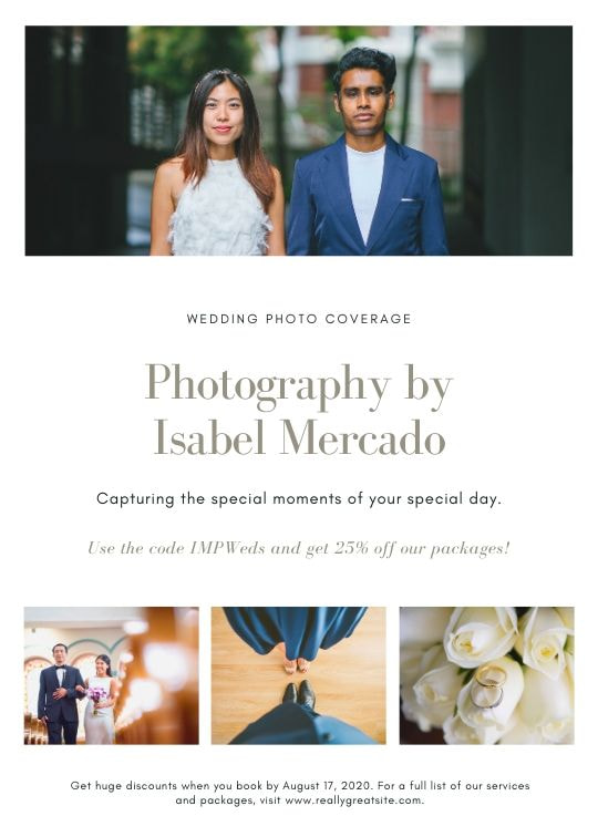 Print photography flyers - White Wedding Photography Flyer