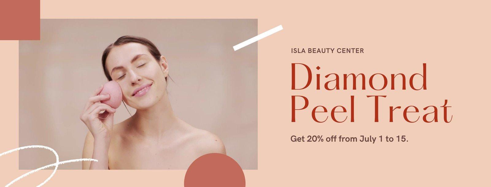 Pink Color Block Sale / Promo Announcement Beauty Facebook Cover