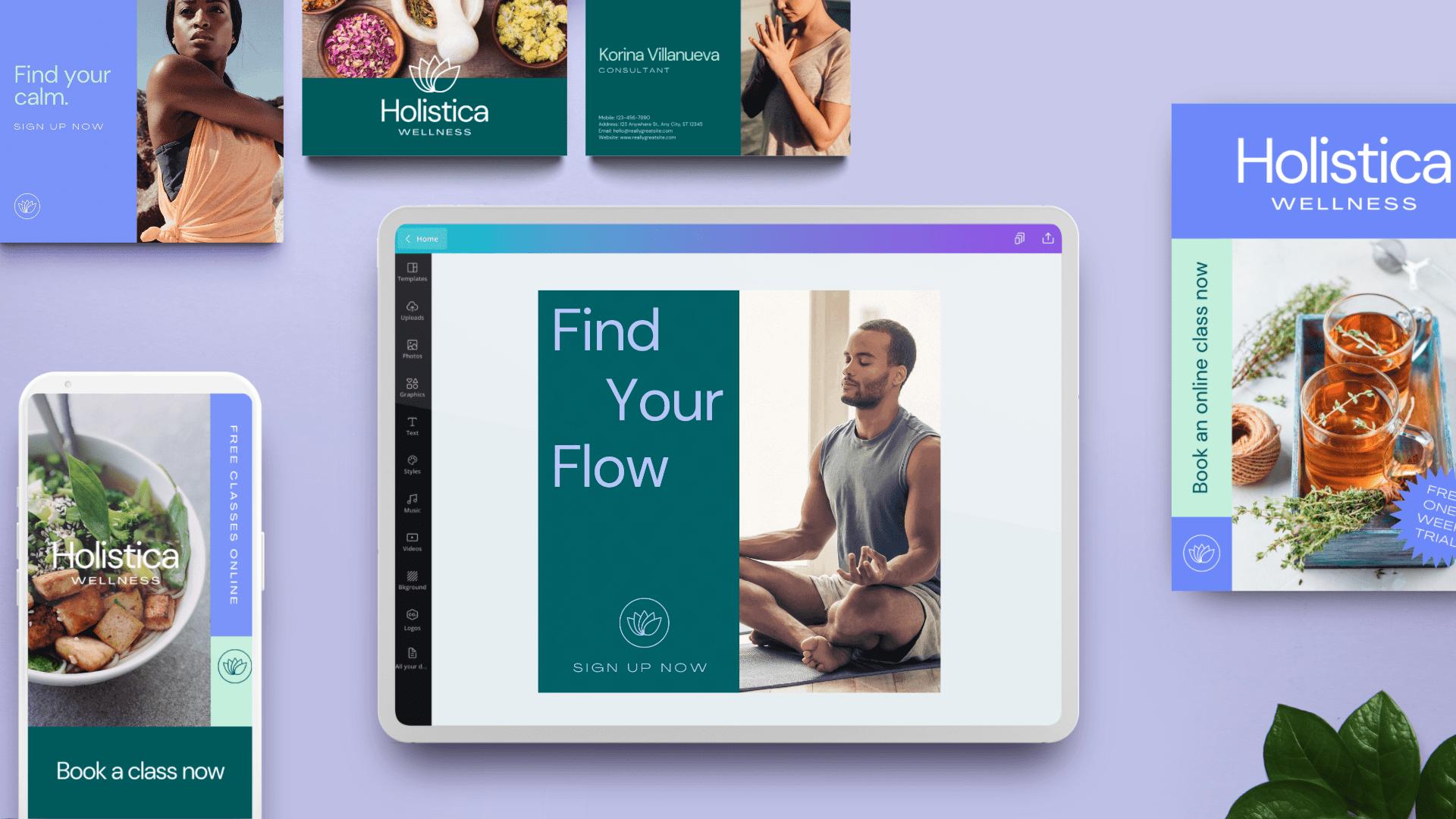 Canva Pro Fake Brand - Wellness Holistica Yoga (3)