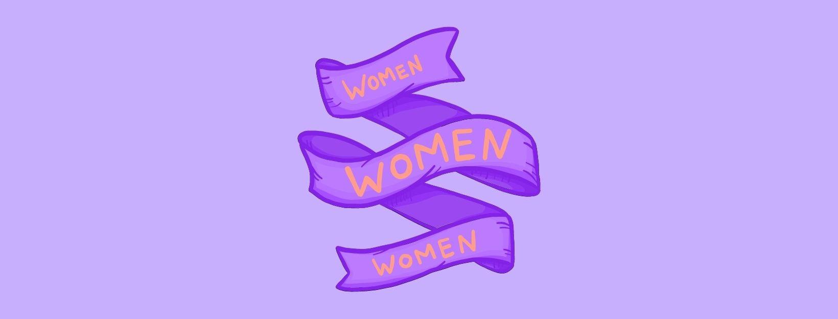 BANNER-Canva-Orange and Purple Banner International Women's Day Instagram Post