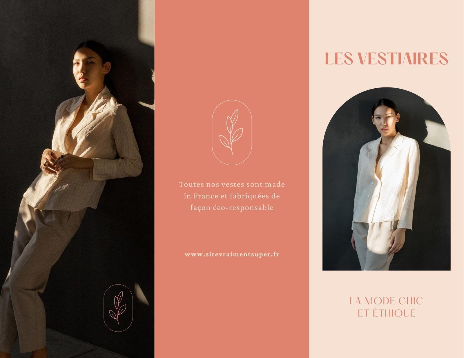 Kit Media nude brochure tarifs marque mode minimaliste