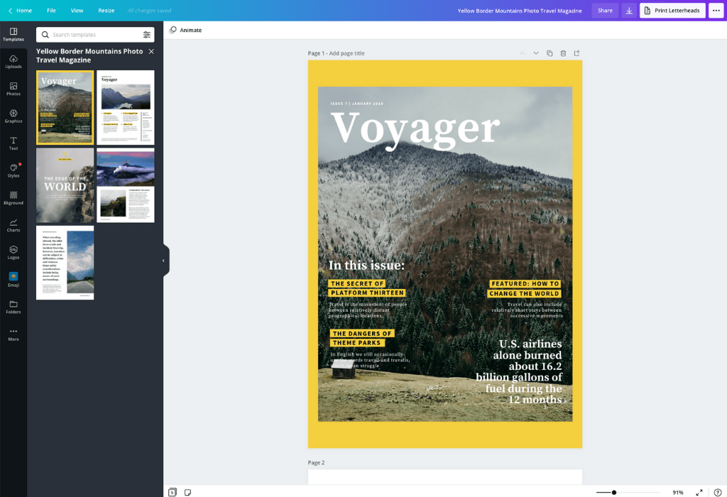 How to make a magazine cover - Canva