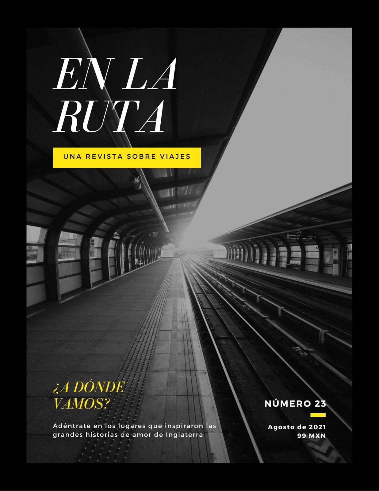Negro Estación de Ferrocarril Moderno Viajes Revista