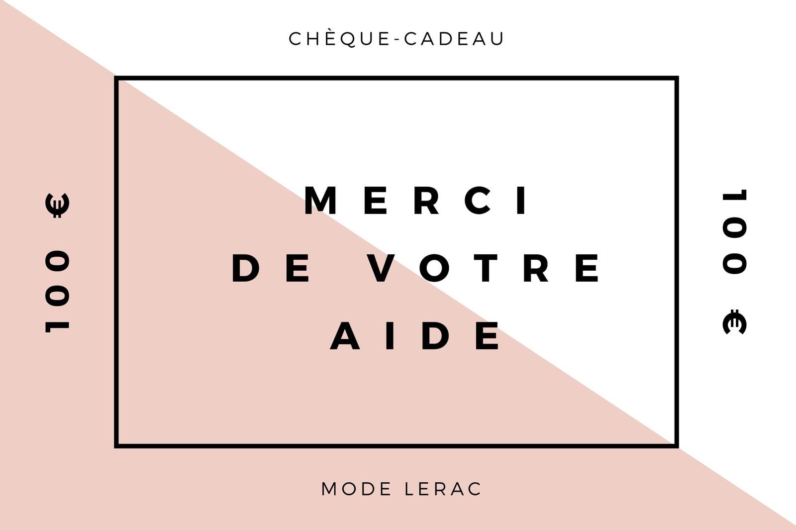 Rose Moderne Minimaliste Mode Bénévole Chèque-Cadeau