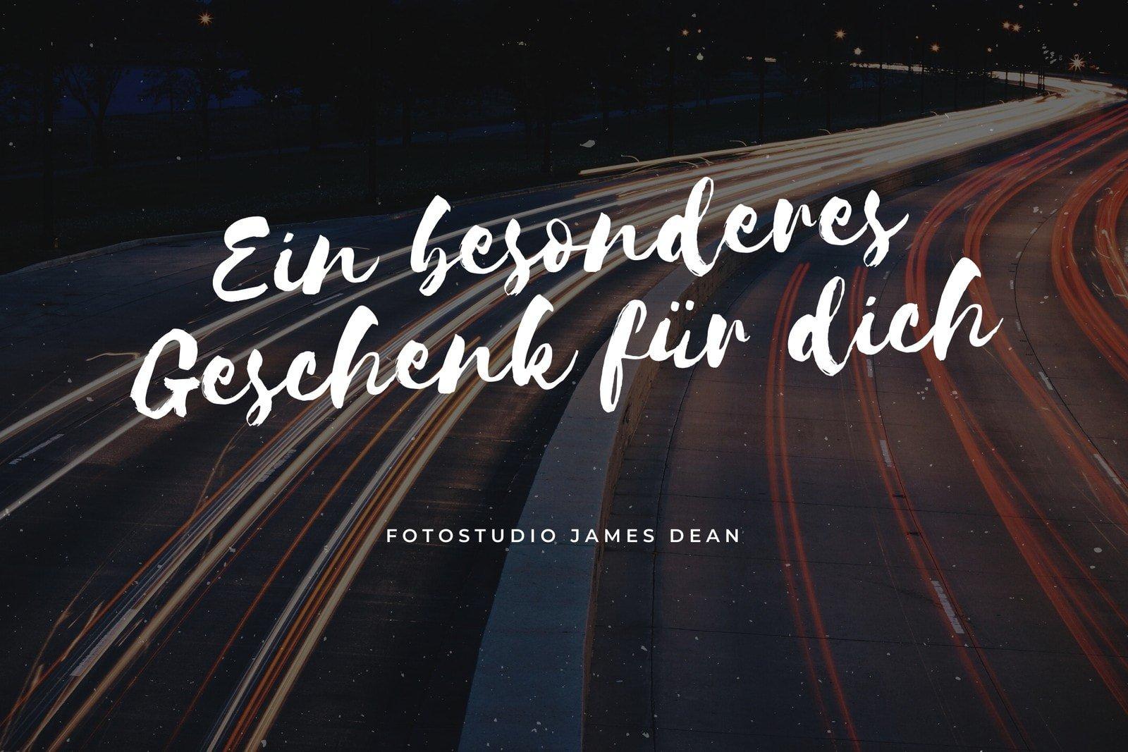 Dunkel Autobahn Fotografie Geschenkgutschein