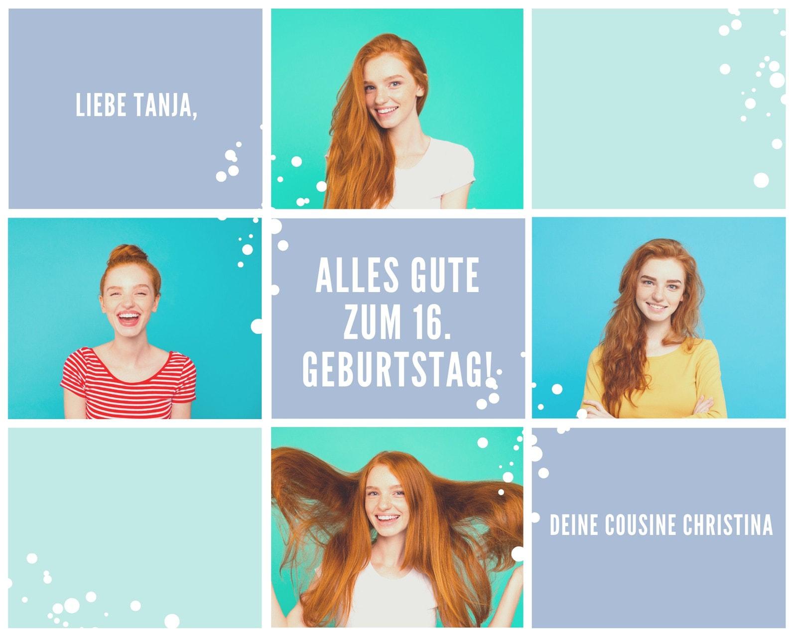 Pastellfarben Schnee Geburtstag Foto Collage