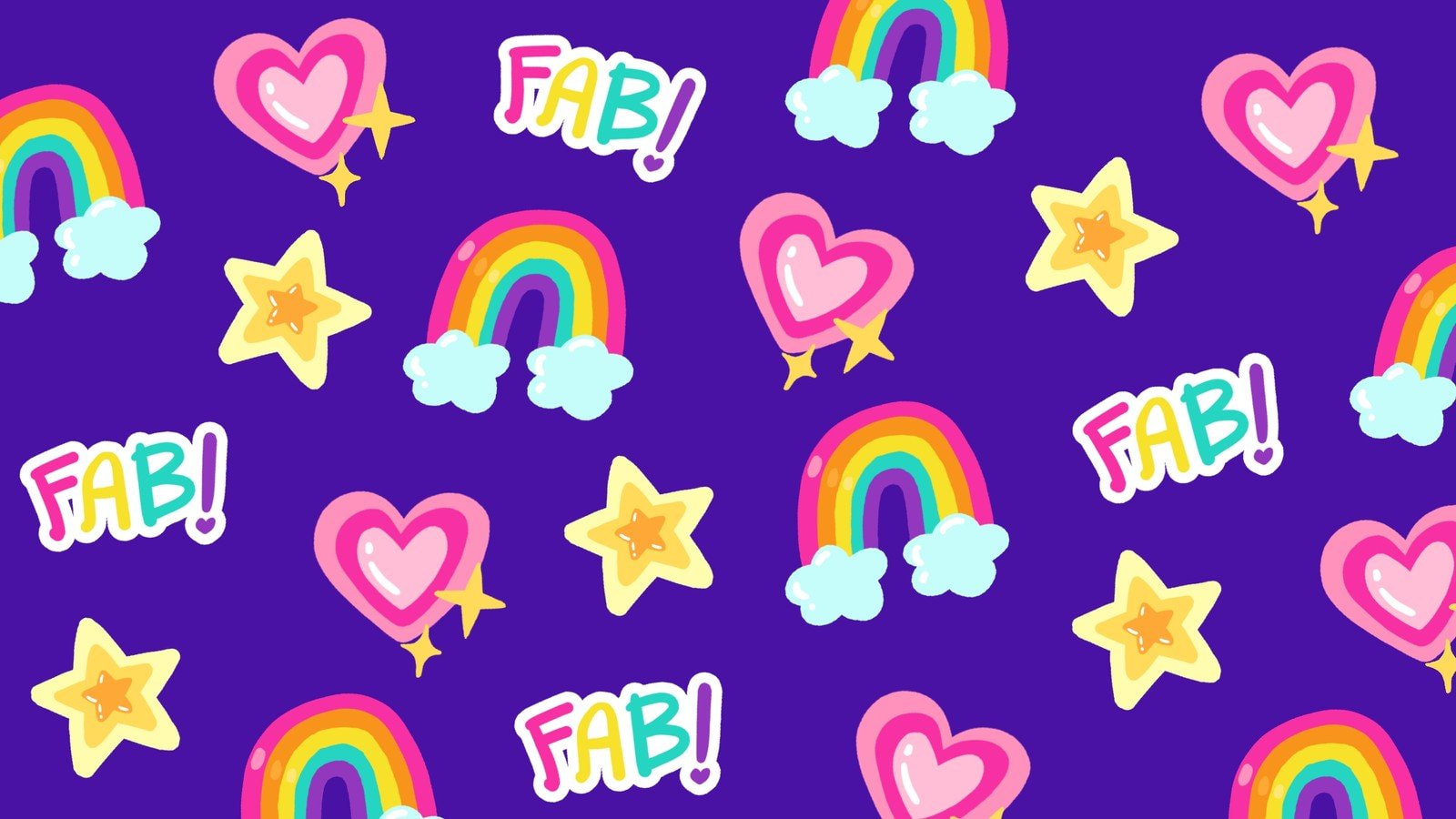 Colorful Cute and Fun Animated Zoom Virtual Background