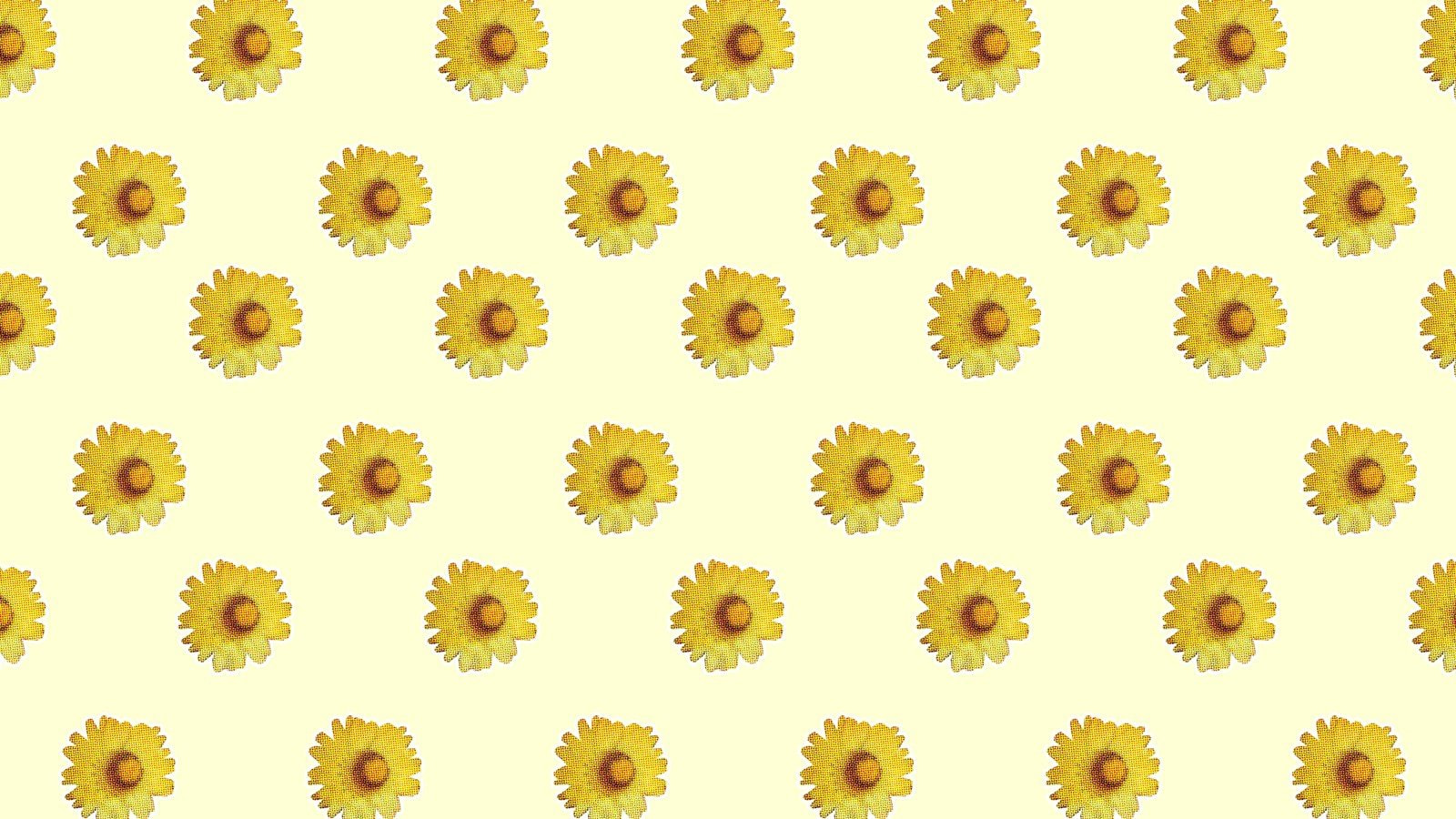 Yellow Flowers Zoom Virtual Background