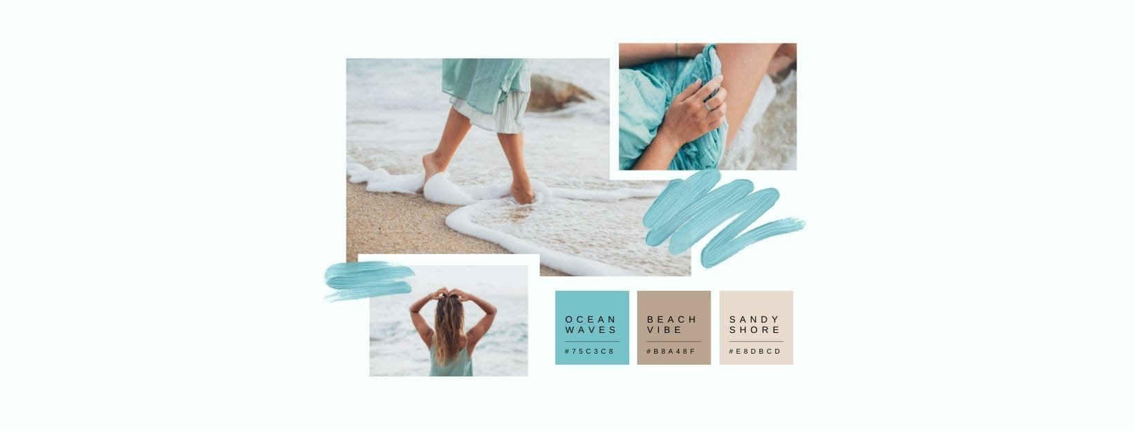 BANNER-Canva-Sky Blue and Brown Soft and Dainty Color Inspiration Moodboard Photo Collage