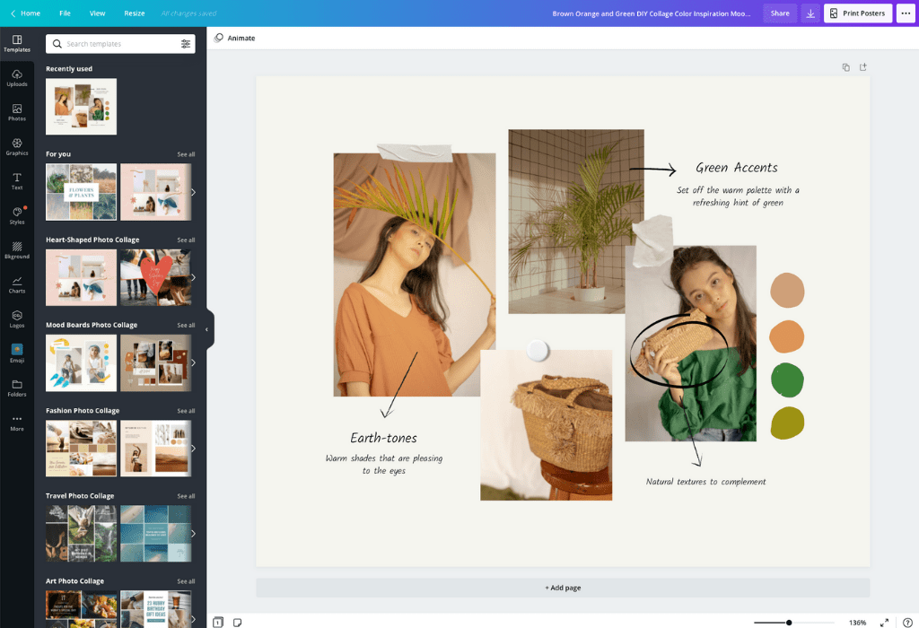 How to make a photo collage - Canva