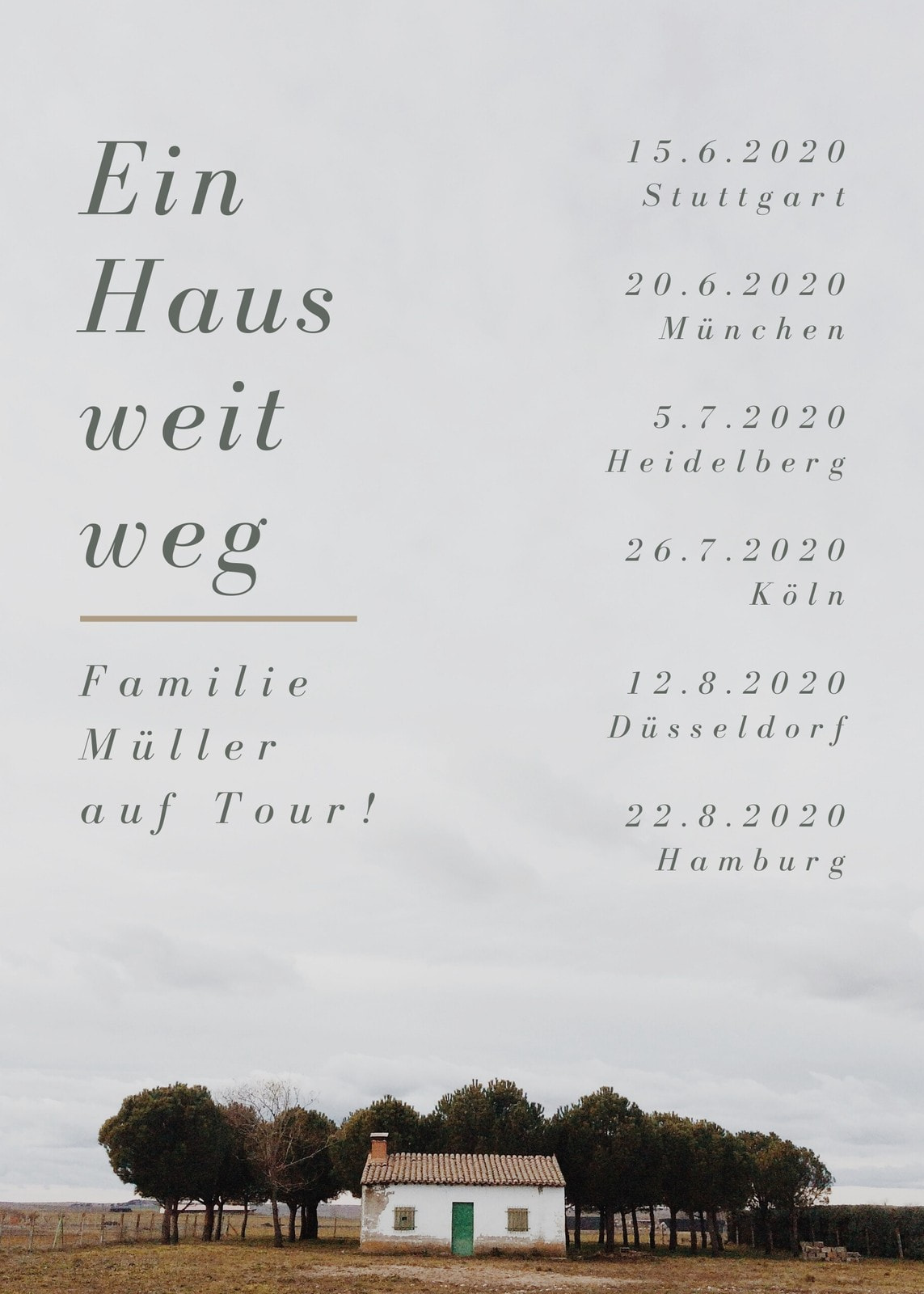 Haus National Tour Band Flyer
