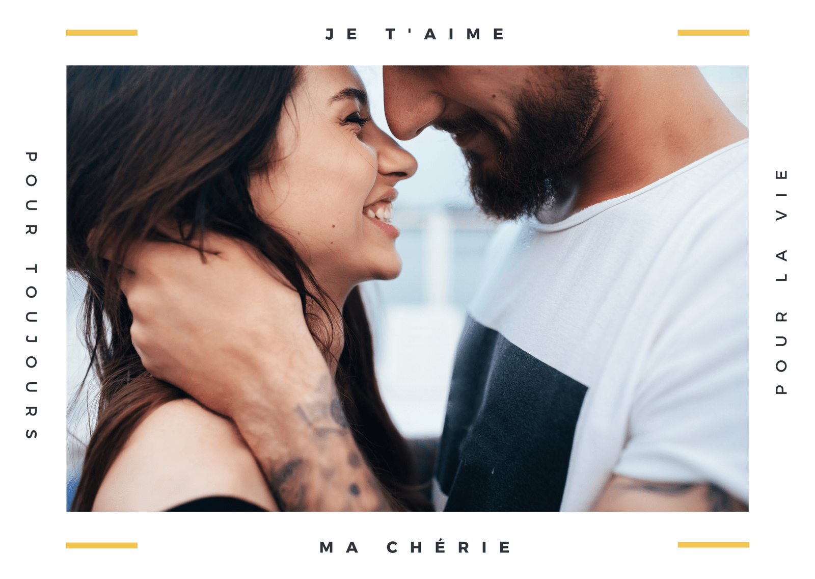 Minimal Amour Photo Carte