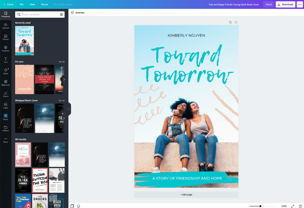 How to make Wattpad covers - Canva