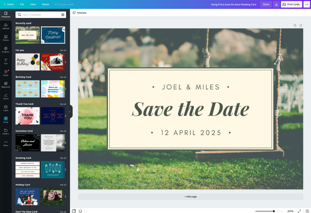 How to make save the dates - Canva