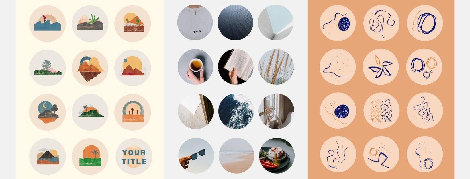 Vorlagen für Instagram Story Highlight Cover